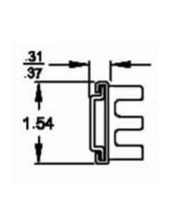 Solid Section C-874 (36-43kg/pr) Lock Out & Detach