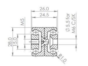 TDB-28 Full Extension (236-1108 N radial load/slide) Hardened