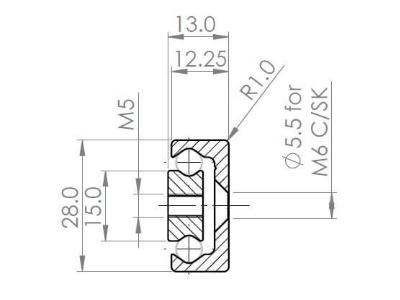 TPE-28 Partial Extension (612-7566 N radial load/slide) Hardened
