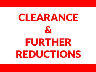 Clearance Section- Further Reductions