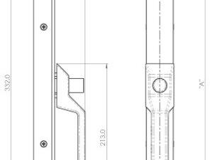 Front Locking Half Handle - Heavy Duty, Non Corrosive