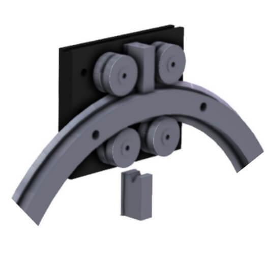 4080.CR25 Full 360° Steel Ring V Rail. 1,200-3,000N radial load/slide