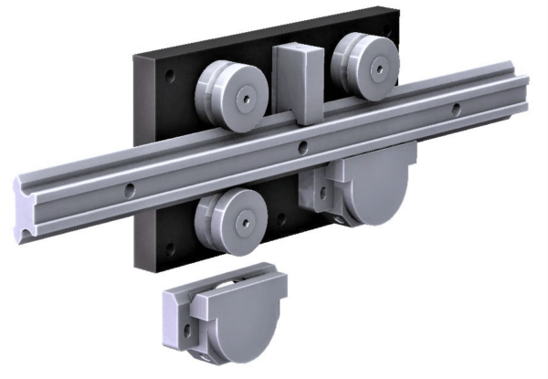 4080.LGV25XL  P1 Steel Linear Rail  1,200-3,000N radial load/slide