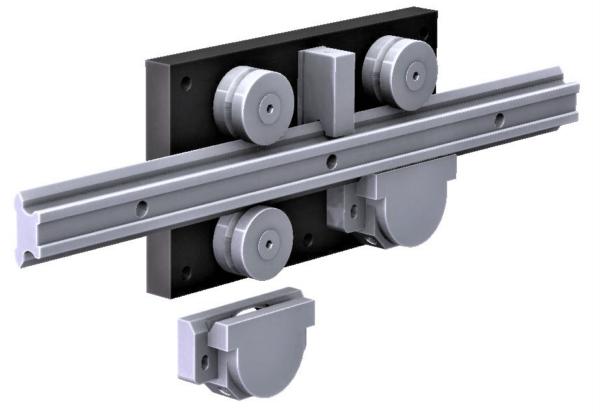 4080.LGV76XL  P1 Steel Linear Rail  6,400-10,000N radial load/slide