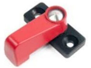 Drawer Locking Latch 35mm - Red/Black