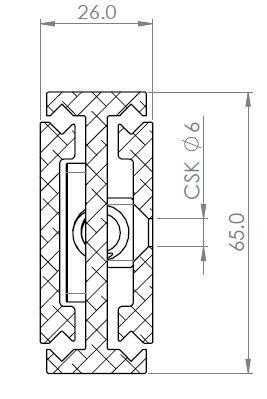 Radial Aero Slide 6526 (340kg) Grade 7075 Alloy. Non-Corrosive, Hi-Load & Raceway Wipers