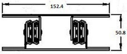 Bottom Mount C-7000 Server Slide (33-81kg each) Non Locking