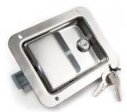 Stainless Steel Keyed Door Lock. 140x108mm.
