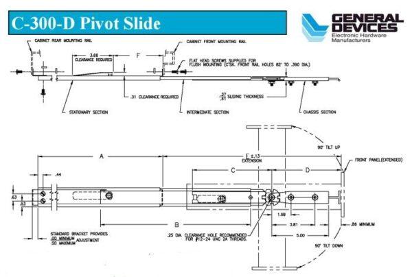 Solid Section C-300D (36-43kg/pr) Lock Out, Detach & Pivot