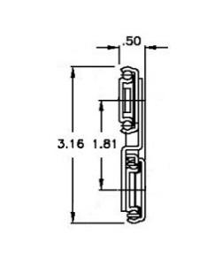 Chassis Trak CLB-315 (34-77kg/pr) Lock Out & Detach