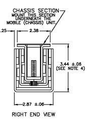 Bottom Mount D-1054 Train Battery Box Slide  (215-576kg each) Lock In & Out
