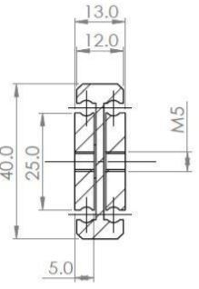 DTS-45  Full Extension  (80-166 kg/pair)