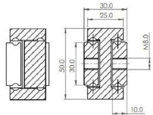 ADTSB-50 (92-161 kg/pr) Aluminium Non Corrosive. Bi-Directional