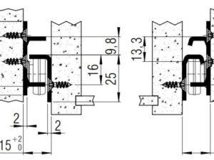 FR1051 SCC (40kg) Stainless Steel Partial Ext'n. Side Mount