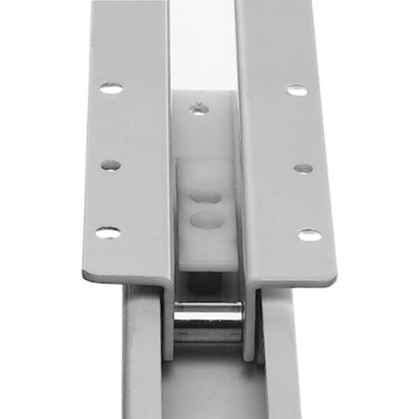 FR505-T (80kg) Steel Door Display Slide. Powder Coated Black