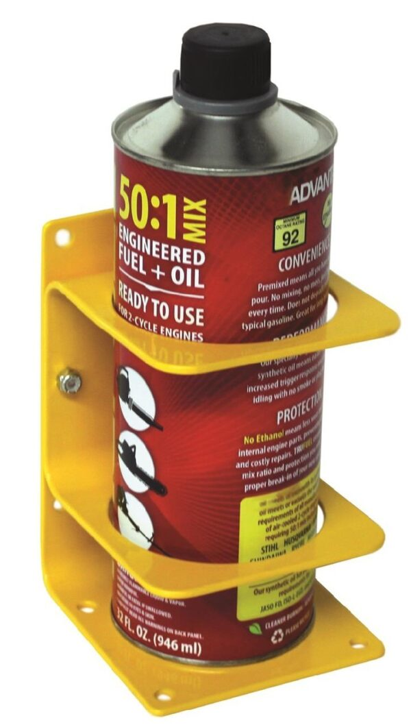 """Large Can Holder - Dia. up to 3-3/8"""" (85mm). Yellow Steel"""
