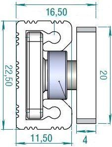 R22 Radial Carrier (10-20kg) (for R22 rail)
