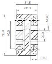SDTS-60 Stainless Steel 316L 332-522 kg/pr) - Full Ext'n