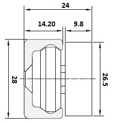 TCA-28 Slider for TV-28 Alloy Body & Wiper Rad/Load 2170-3472 N