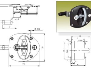 Flush Vector T Handle with keyed compression latch