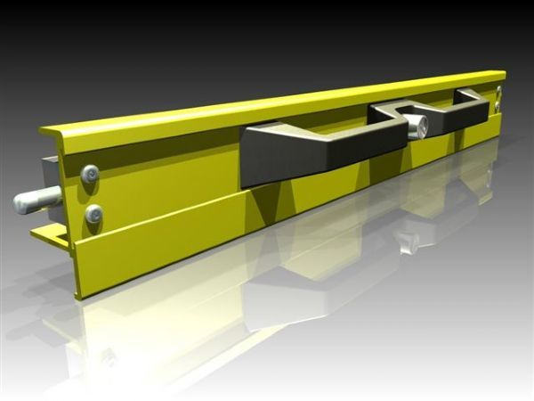 Front Locking Handle - Heavy Duty, Non Corrosive: Black/Yellow