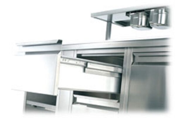 FR505 SCC (100kg) Stainless Steel Partial Ext'n. Bottom Mount